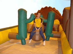 Western Roundup Inflatable for rent